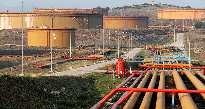 Adana'daki Ceyhan limanındaki petrol tankları