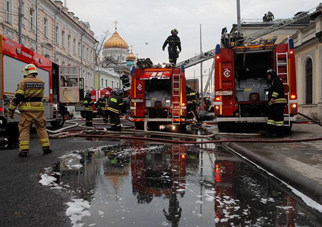 Moskova'daki Puşkin Müzesi'nde yangın