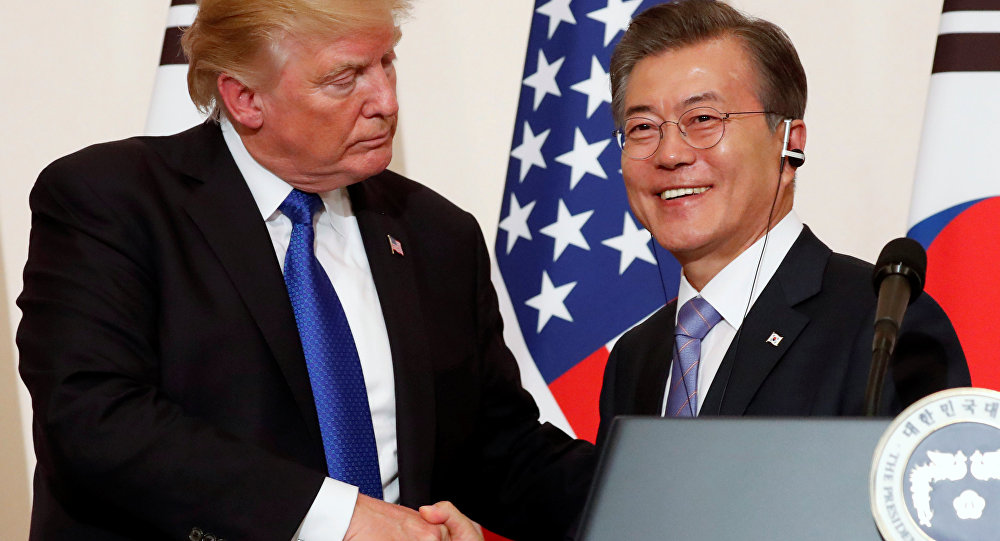 ABD Başkanı Donald Trump-Güney Kore Devlet Başkanı Moon Jae-in