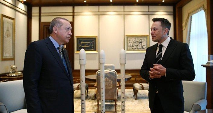 Cumhurbaşkanı Recep Tayyip Erdoğan ve Space X şirketinin kurucusu Elon Musk