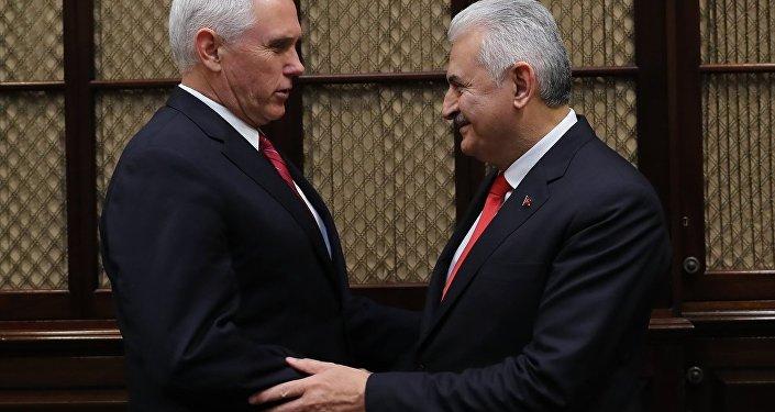 Başbakan Binali Yıldırım-ABD Başkan Yardımcısı Mike Pence görüşmesi