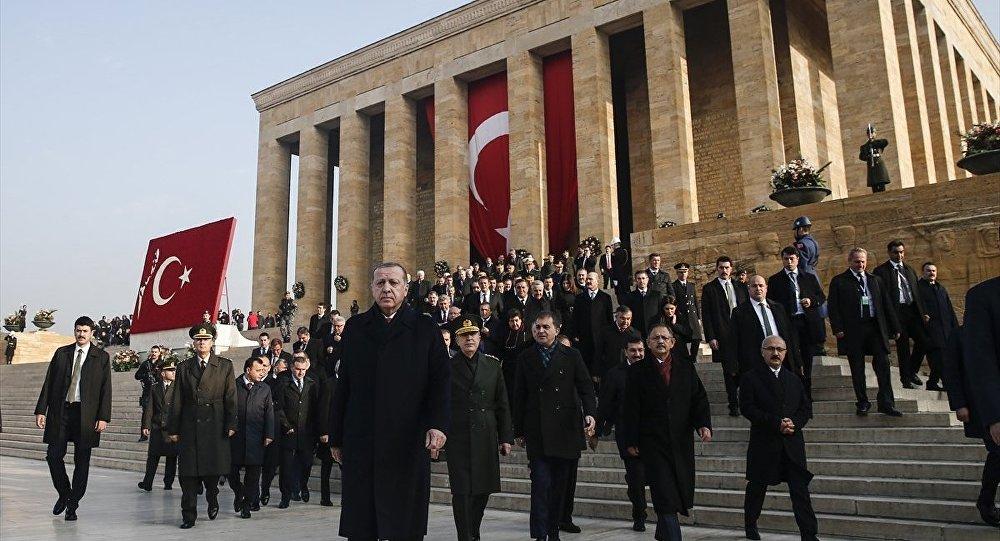 Atatürk'ün vafatının 79. yılında Anıtkabir'de düzenlenen devlet töreni - Cumhurbaşkanı Recep Tayyip Erdoğan