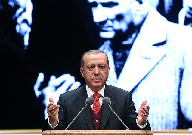 Atatürk'ü anma töreninde konuşan Cumhurbaşkanı Recep Tayyip Erdoğan