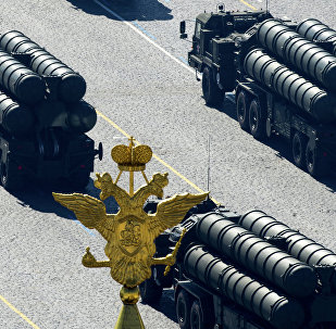 S-400 Triumph air defense system during Victory military parade in Moscow