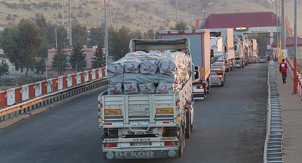Kızılay'ın yardım konvoyu Irak'a ulaştı