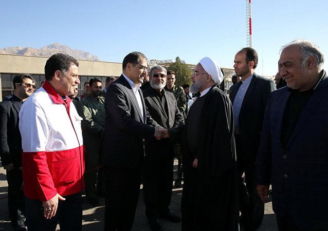 İran Cumhurbaşkanı Hasan Ruhani Kirmanşah'ta