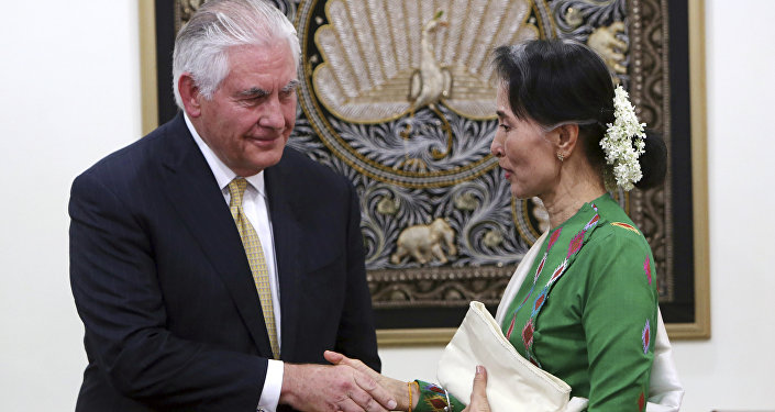 ABD Dışişleri Bakanı Rex Tillerson- Myanmar lideri Aung San Suu Kyi