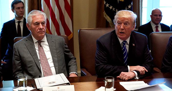 ABD Dışişleri Bakanı Rex Tillerson ile ABD Başkanı Donald Trump