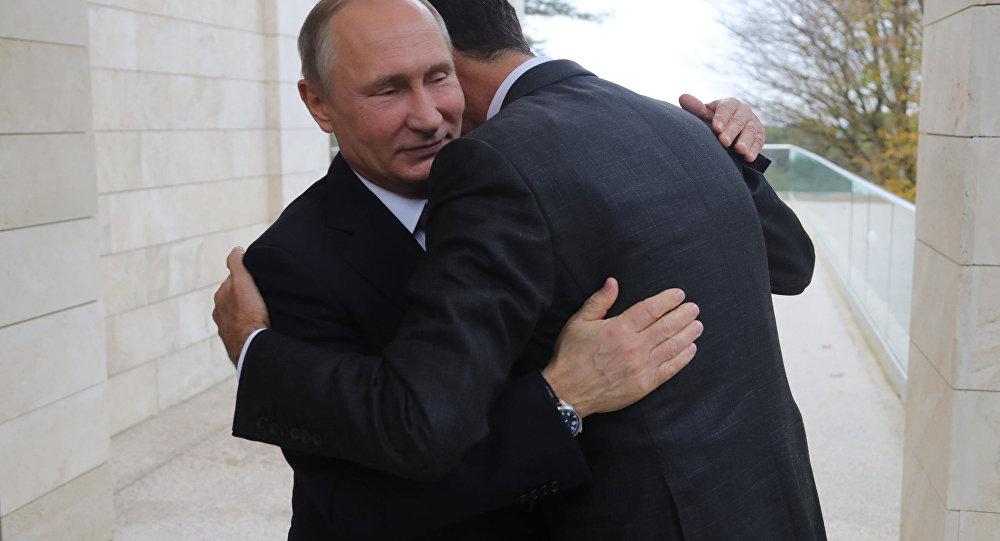 Rusya Devlet Başkanı Vladimir Putin, Suriyeli mevkidaşı Beşar Esad'la Soçi'de görüştü.