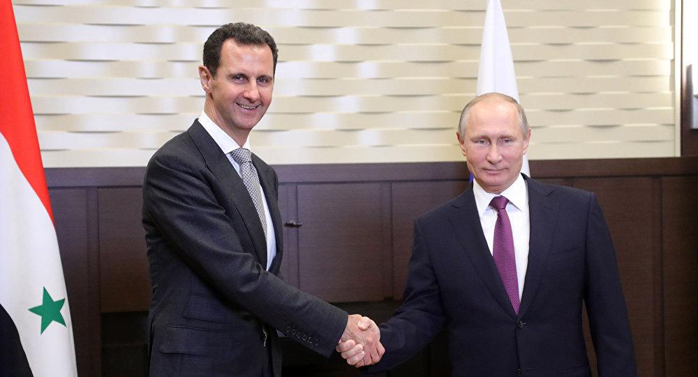 Rusya Devlet Başkanı Vladimir Putin - Suriyeli mevkidaşı Beşar Esad
