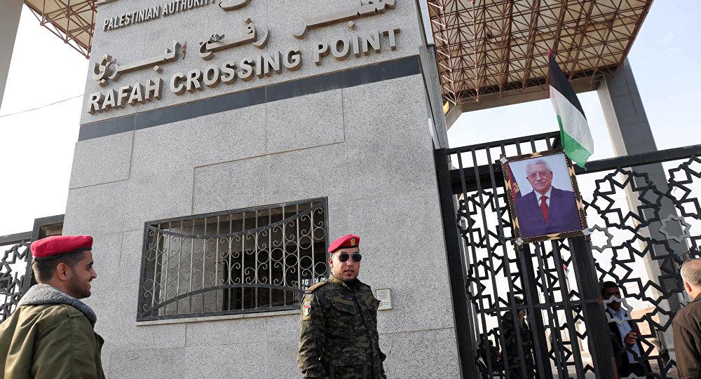 Mısır ile Gazze arasındaki Refah Sınır Kapısı'nda Hamas'a bağlı bir güvenlik görevlisi