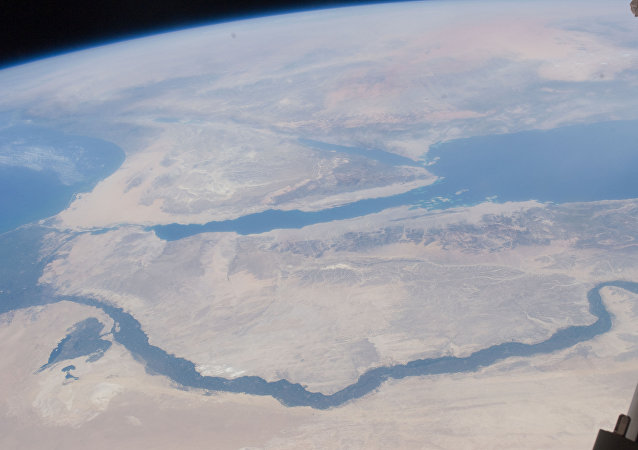 Nile River Delta, Sinai Peninsula (NASA, International Space Station, 07/10/11)