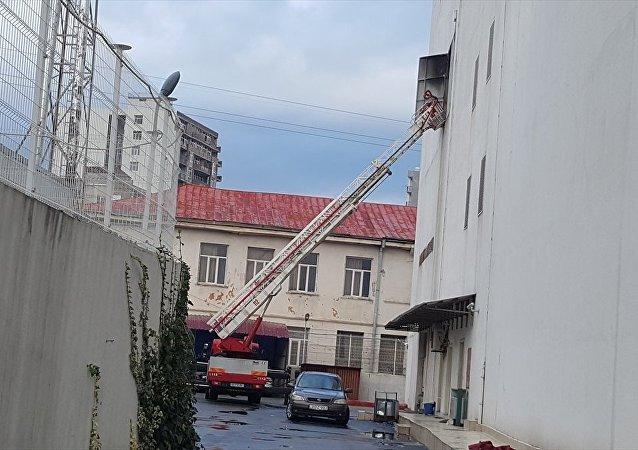 Batum'daki otel yangını