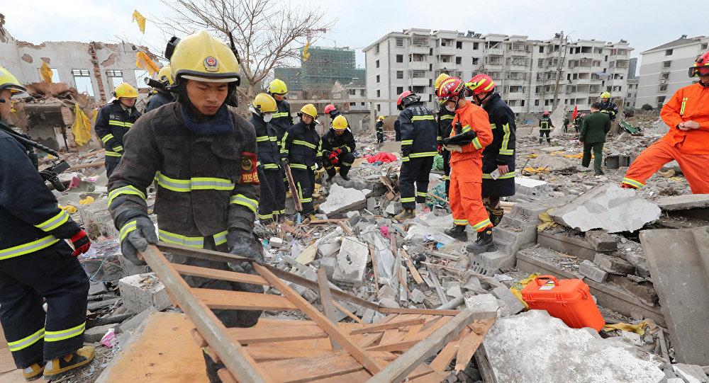 Çin'de fabrikada patlama