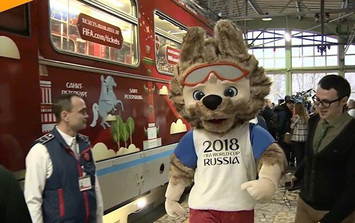 Moskova metrosunda 2018 Dünya Kupası temalı tren hizmete girdi