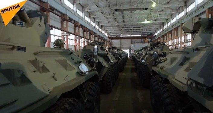 Rus Hummer'lerinin üretildiği fabrikadan görüntüler
