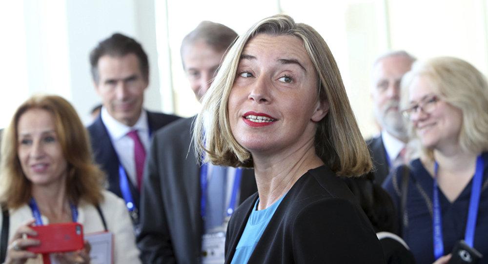 Avrupa Birliği (AB) Dış İlişkiler ve Güvenlik Politikası Yüksek Temsilcisi Federica Mogherini