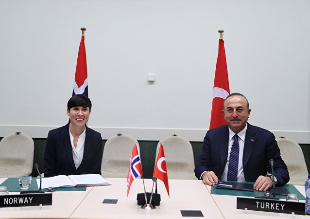 Dışişleri Bakanı Mevlüt Çavuşoğlu- Norveç Dışişleri Bakanı Ine Marie Eriksen
