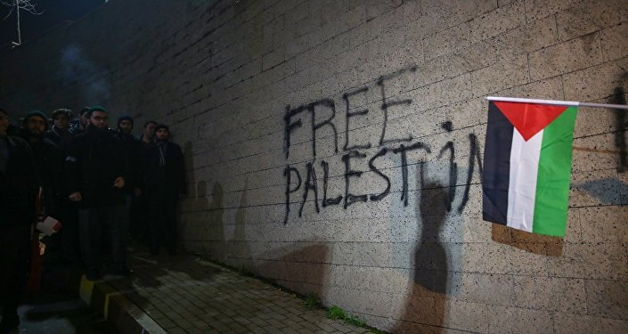 Trump'ın Kudüs kararına İstanbul Konsolosluğu önünde protesto