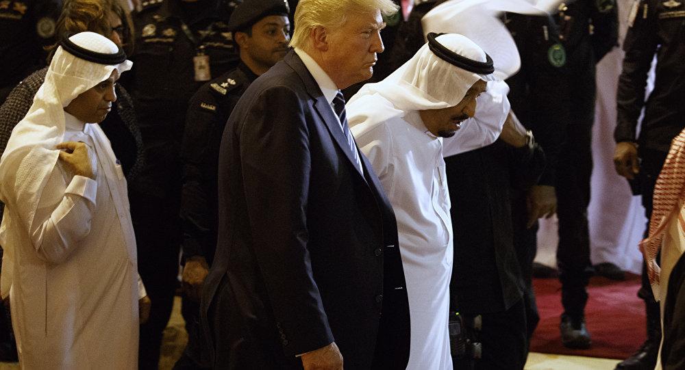 Suudi Arabistan Kralı Selman ve ABD Başkanı Donald Trump
