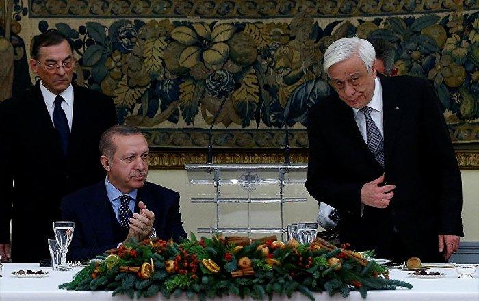 """Yunanistan'da Erdoğan""""dan dostluk mesajları"""