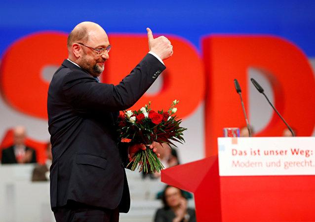SPD Genel Başkanı Martin Schulz, partisinin kongresinde