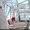 Noel Baba Kırım'ı ziyaret etmek için yeni köprüyü kullandı