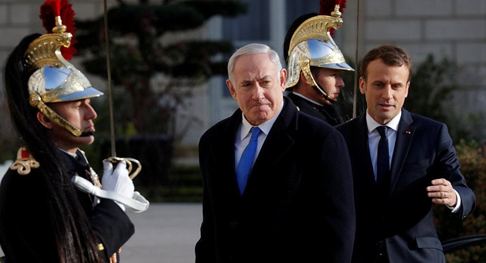 İsrail Başbakanı Benyamin Netanyahu ile Fransa Cumhurbaşkanı Emmanuel Macron