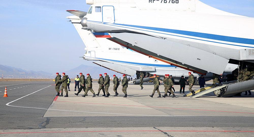 Suriye'den Rusya'ya dönen askeri polis taburu