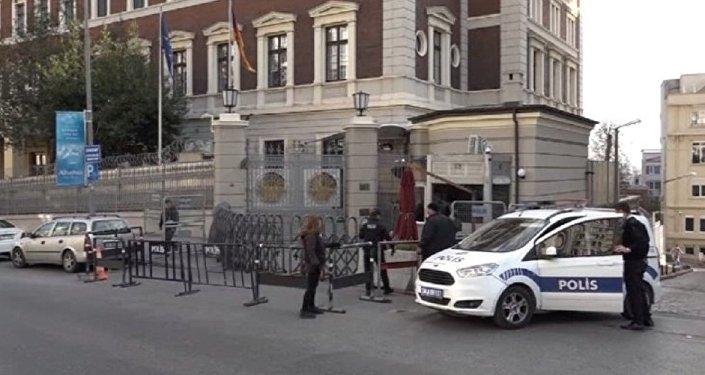 Almanya'nın İstanbul Başkonsolosluğu'nda şüpheli paket alarmı