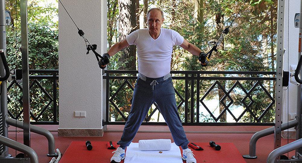Rusya Devlet Başkanı Vladimir Putin spor yapıyor