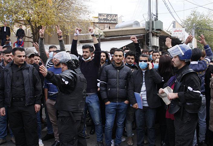 Süleymaniye'de eylemciler bölgesel hükümetin istifasını istedi