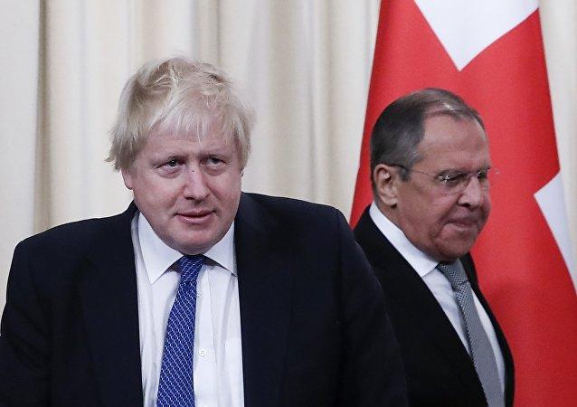 Rusya Dışişleri Bakanı Sergey Lavrov- İngiltere Dışişleri Bakanı Boris Johnson
