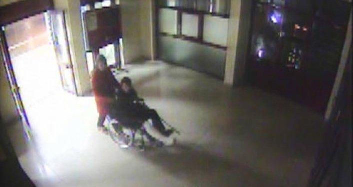 Hastanedeki güvenlik kamerası görüntüsü