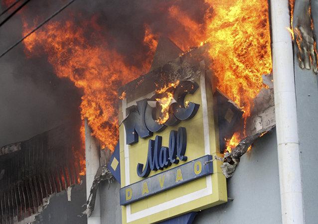 Filipinler'de yangın