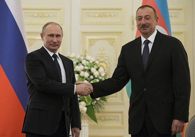Rusya Devlet Başkanı Vladimir Putin-Azerbaycan Cumhurbaşkanı İlham Aliyev