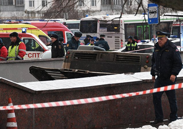 Moskova'da otobüs yayaların arasına daldı