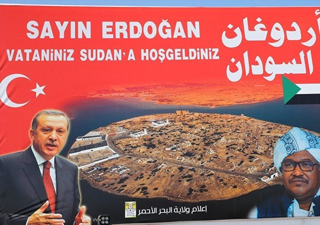 Sudan'da Erdoğan'ın fotoğrafının bulunduğu bir afiş