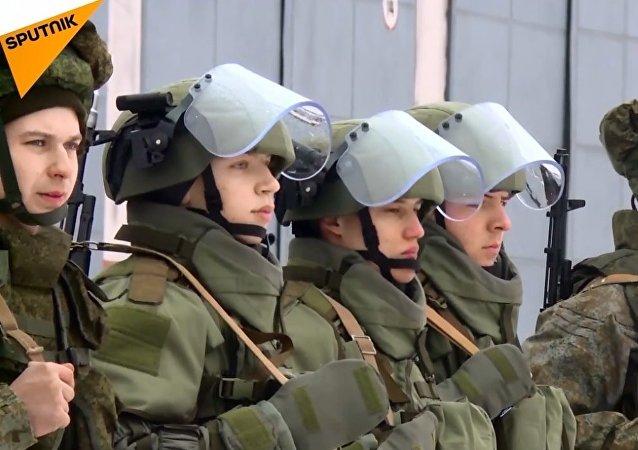 Rus istihkam birliklerinden kapsamlı taktik tatbikat