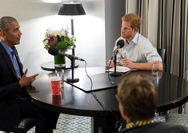 Barack Obama- Prens Harry