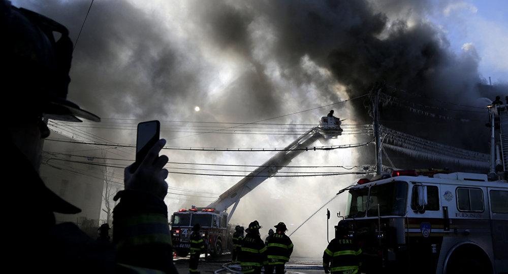 ABD New York Bronx yangın