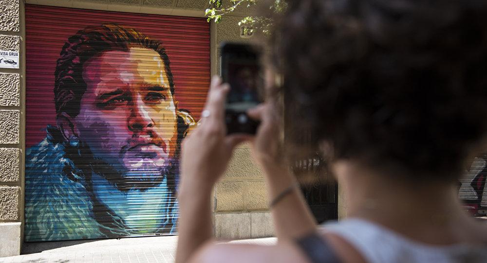 Jon Snow Barcelona graffiti