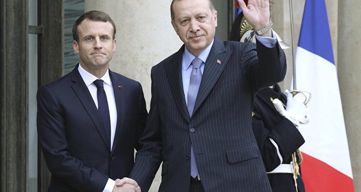 Türkiye Cumhurbaşkanı Recep Tayyip Erdoğan- Fransa Cumhurbaşkanı Emmanuel Macron
