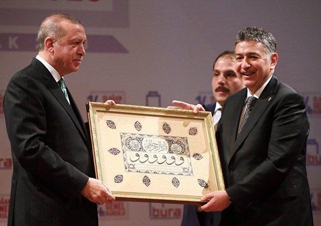 Cumhurbaşkanı Recep Tayyip Erdoğan ile Boğaziçi Üniversitesi Rektörü Prof. Dr. Mehmed Özkan