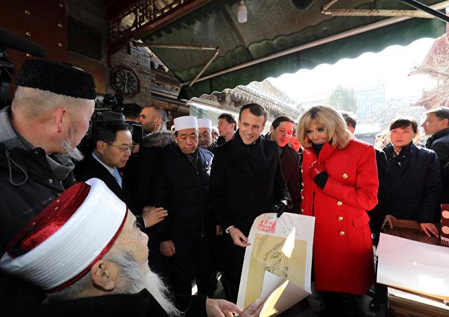 Macron Çin ziyareti Büyük Şian Camii