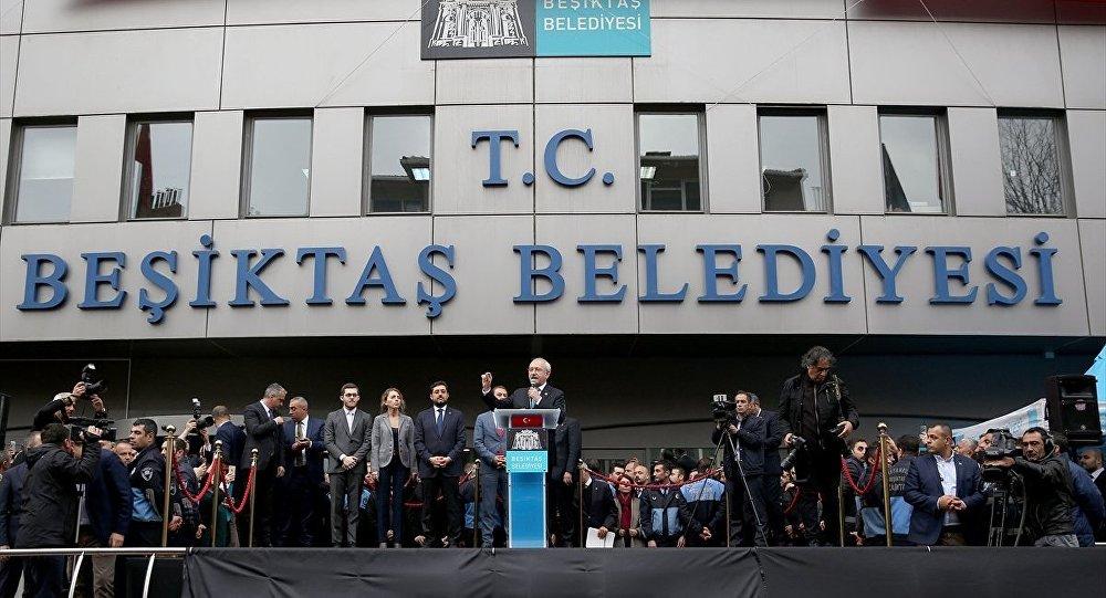 Beşiktaş Belediyesi'nde protesto
