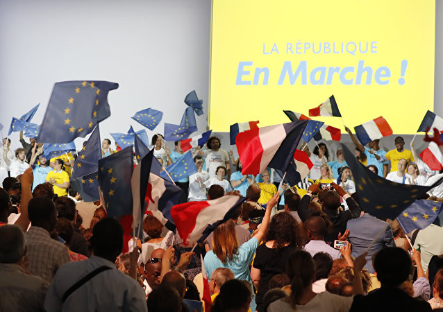 Fransa Cumhurbaşkanı Emmanuel Macron'un partisi 'En Marche' (Yürüyüş)