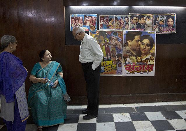 Hindistan'da bir sinema salonu