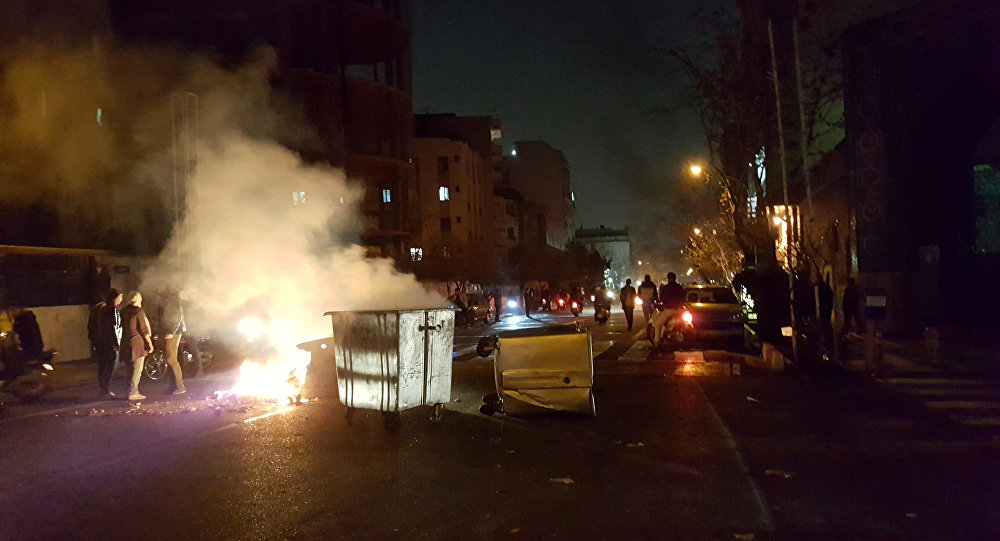 İran'ın başkenti Tahran'da protestolar