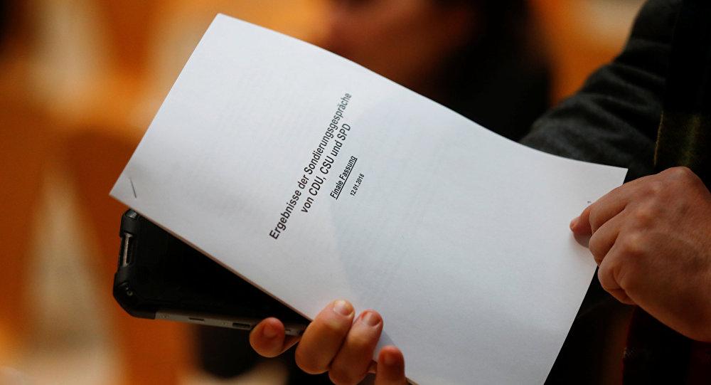 Almanya'da koalisyon ön görüşmesinde üzerinde uzlaşılan 28 sayfalık taslak